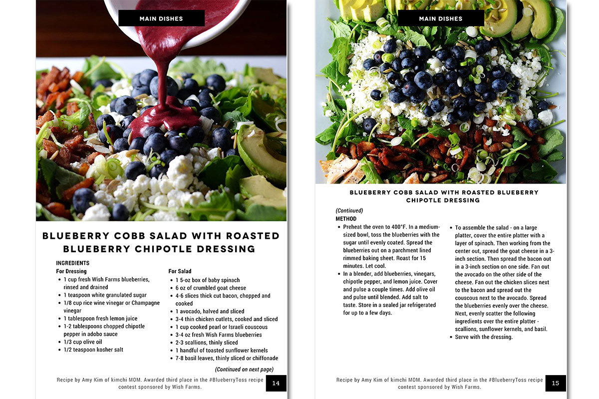 eCookbook for Food Wine Conference