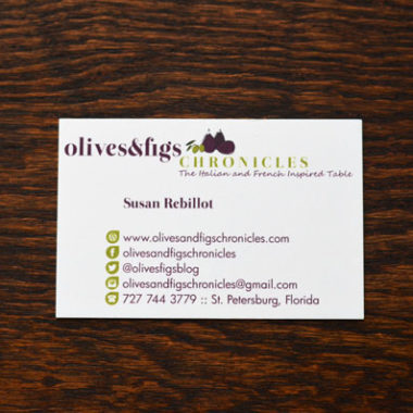 Business Card: Olives & Figs